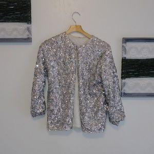 Full sequins vintage cardigan